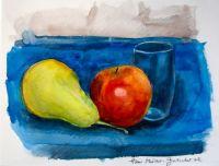 Stillleben mit Wasserglas